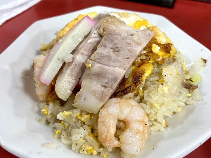 錦糸町「菜来軒」 ヴィジュアル萌えする炒飯を餃子とセットでいただく